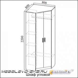 Прихожая модульная консул 2 шкаф угловой (800х800хh2200) в Я.
