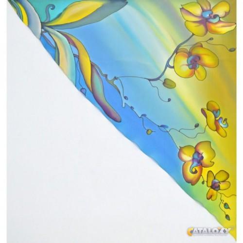 Желто-голубая роспись