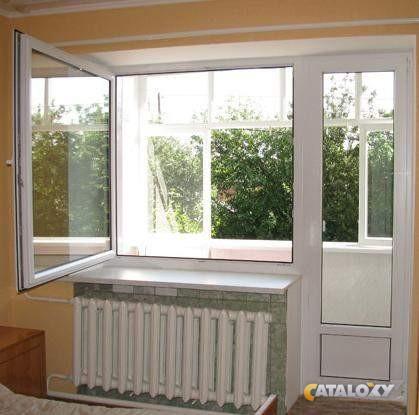 Пластиковый балконный блок с одной створкой окна kbe etalon .