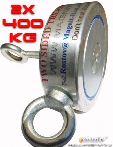 2ф400 двухсторонний постоянный поисковый магнит неодимовый к.