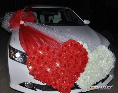 Как сделать свадебные украшения машин