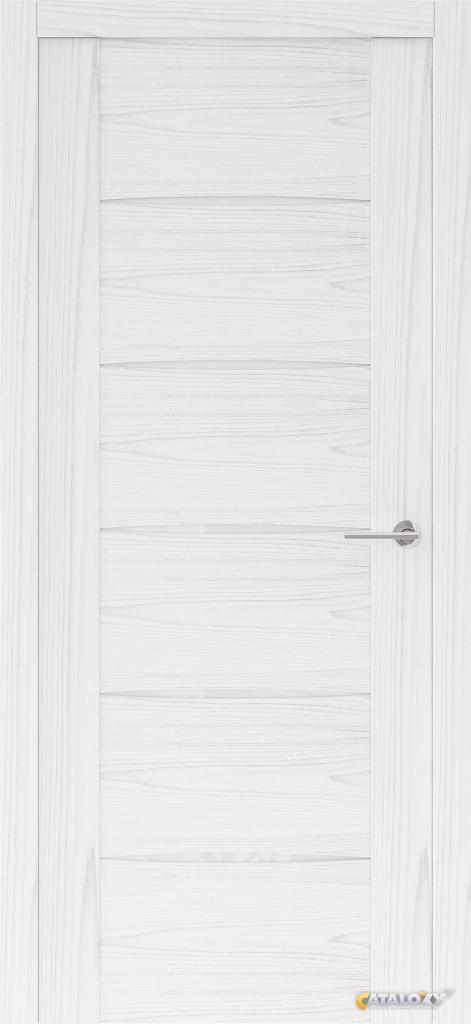 Межкомнатная дверь белый ясень двойное проникновение