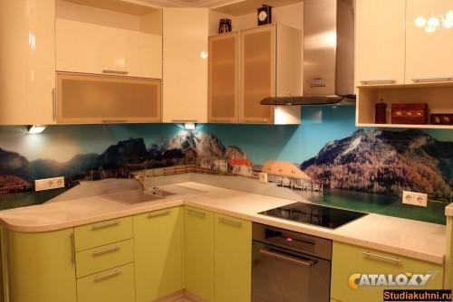 Примерить фото фартука кухни